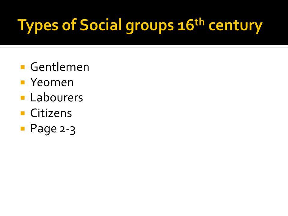  Gentlemen  Yeomen  Labourers  Citizens  Page 2-3