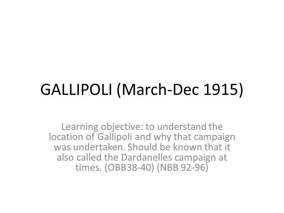 Location of Gallipoli?