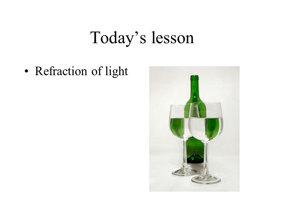 Refraction – a few notes When the wave enters at 90°, no change of direction takes place.