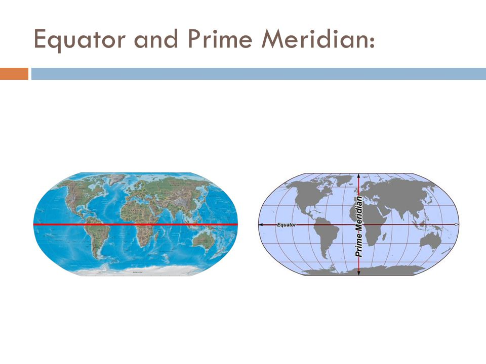 Equator and Prime Meridian: