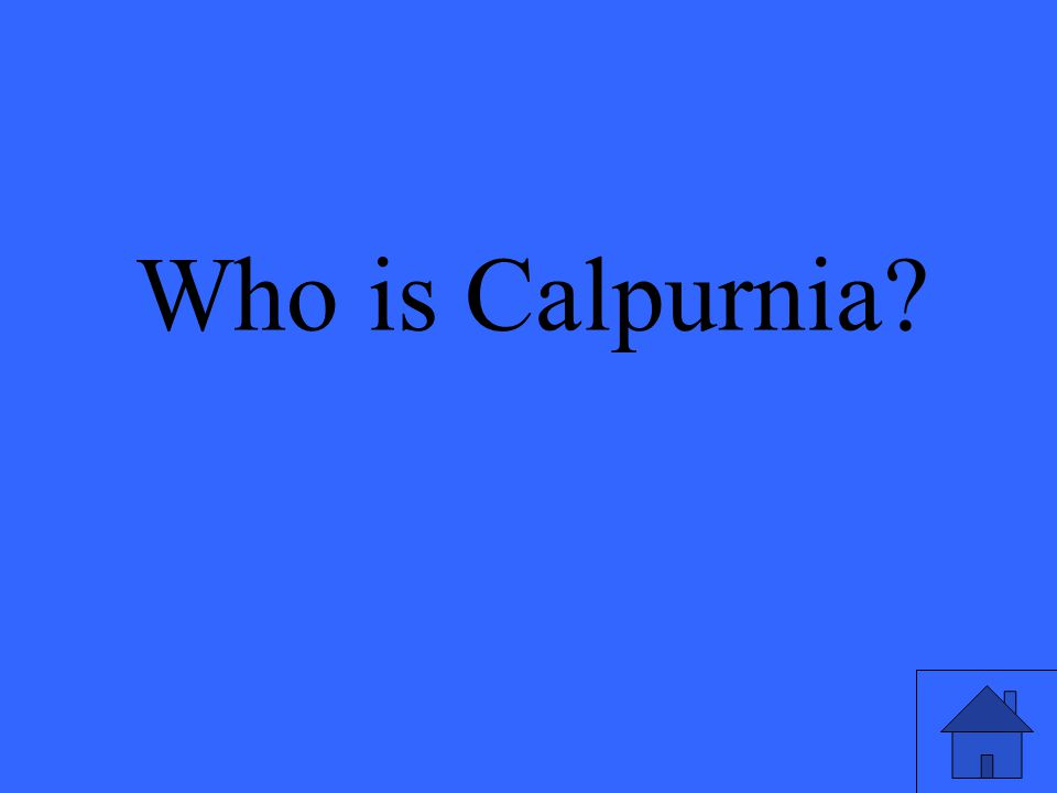 Who is Calpurnia?