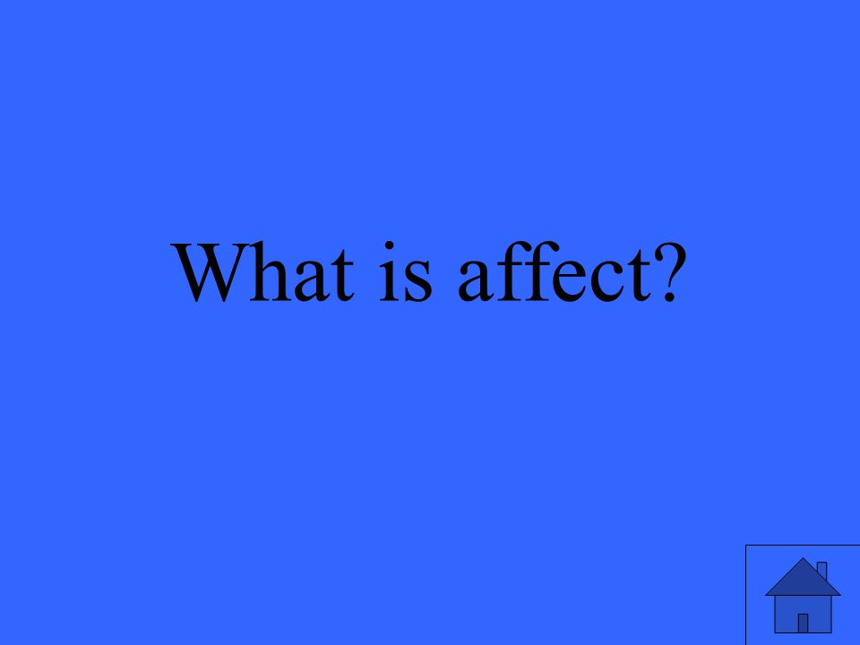 What is affect?