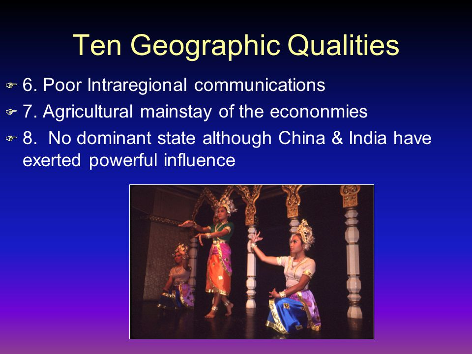 Ten Geographic Qualities F 9.Emergence of Newly Industrialized Countries of Singapore F 10.
