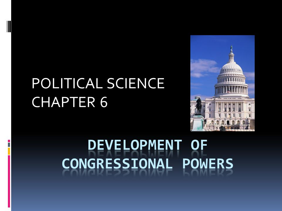 POLITICAL SCIENCE CHAPTER 6