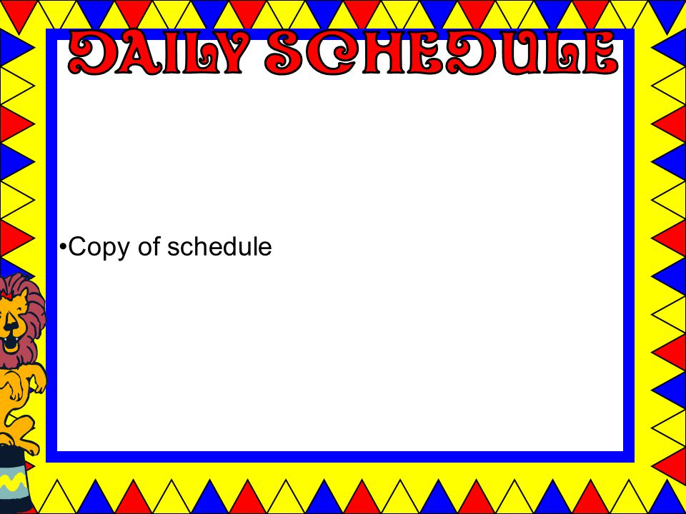 Copy of schedule