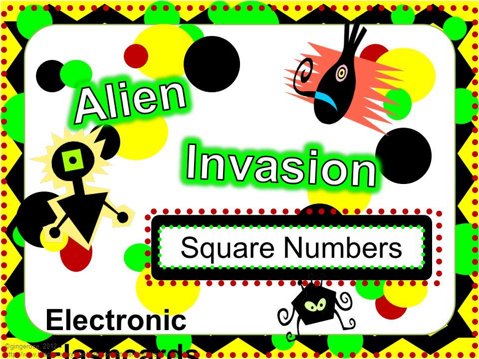 Electronic Flashcards Square Numbers ©gingerose, 2012 http://www.teacherspayteachers.com/Store/Gingerose