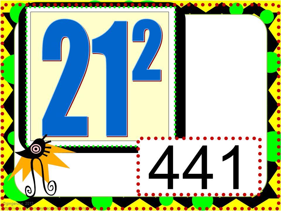 441 ©gingerose, 2012 http://www.teacherspayteachers.com/Store/Gingerose