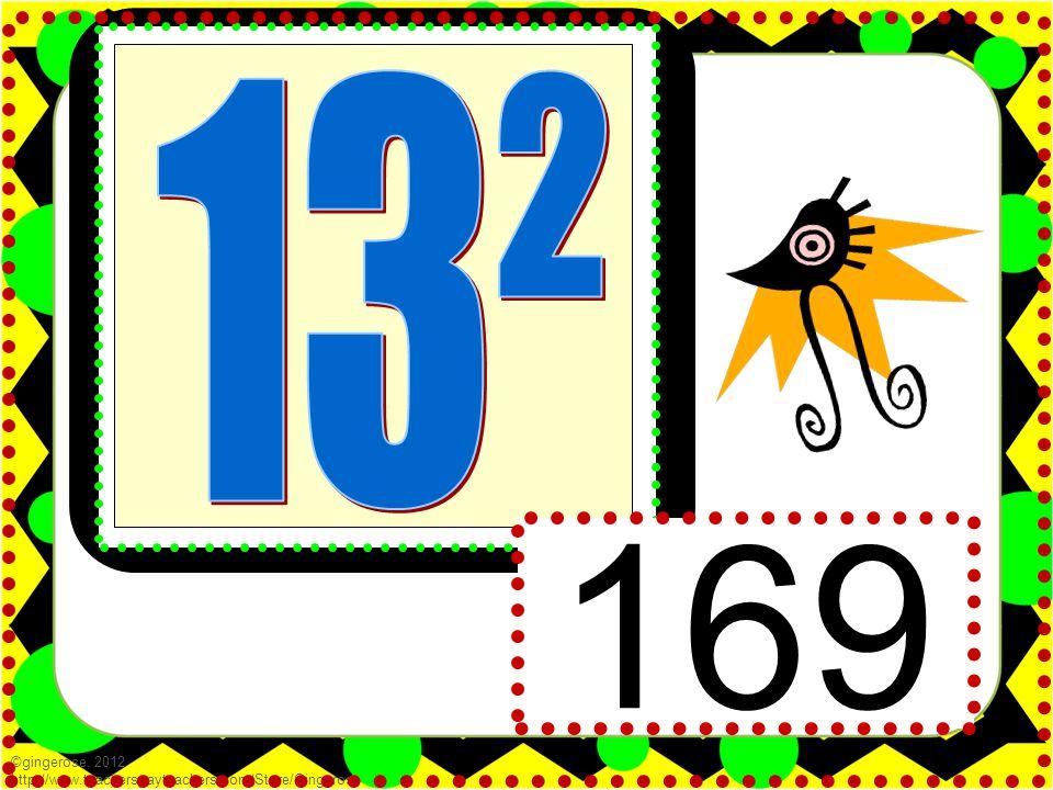 169 ©gingerose, 2012 http://www.teacherspayteachers.com/Store/Gingerose