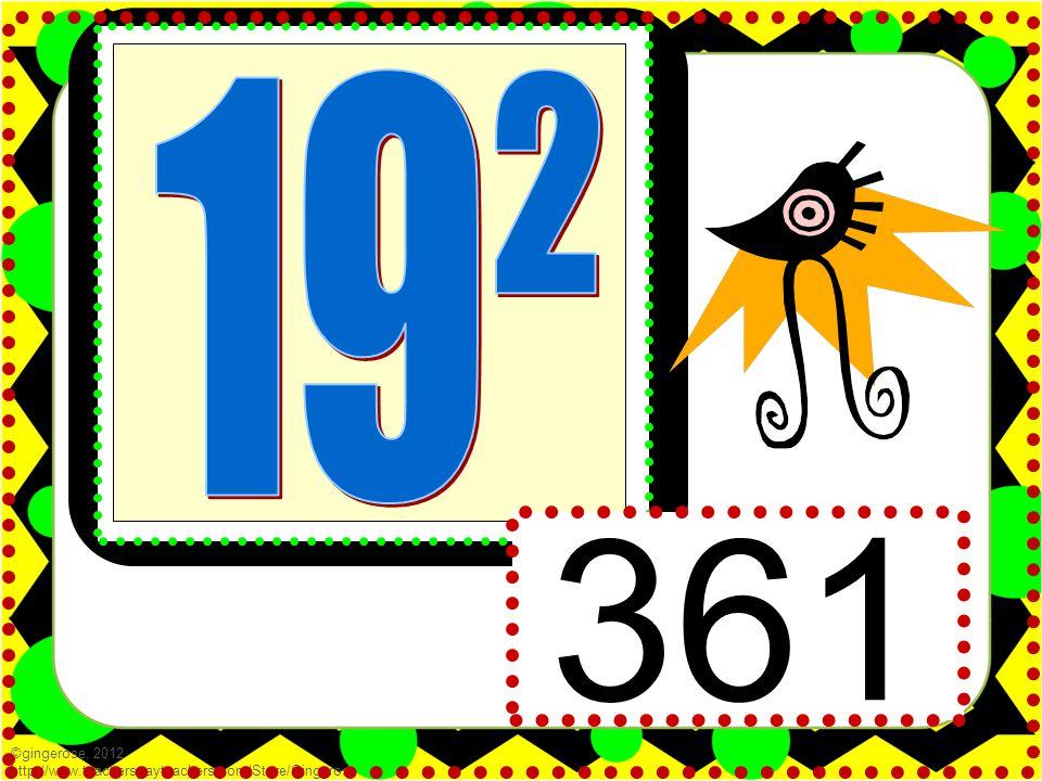361 ©gingerose, 2012 http://www.teacherspayteachers.com/Store/Gingerose
