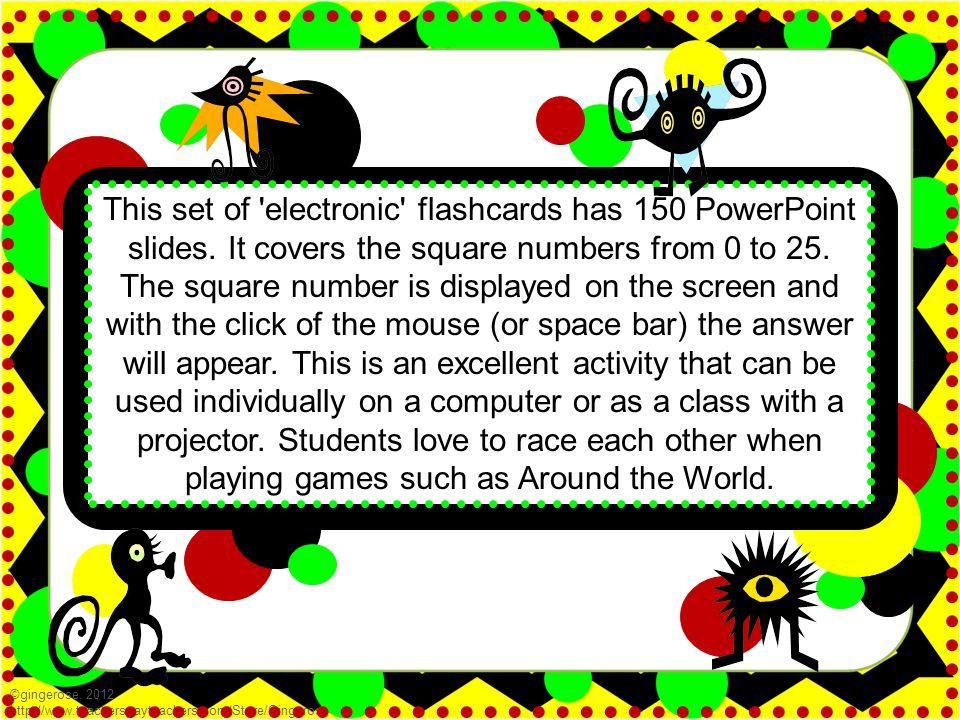 4 ©gingerose, 2012 http://www.teacherspayteachers.com/Store/Gingerose