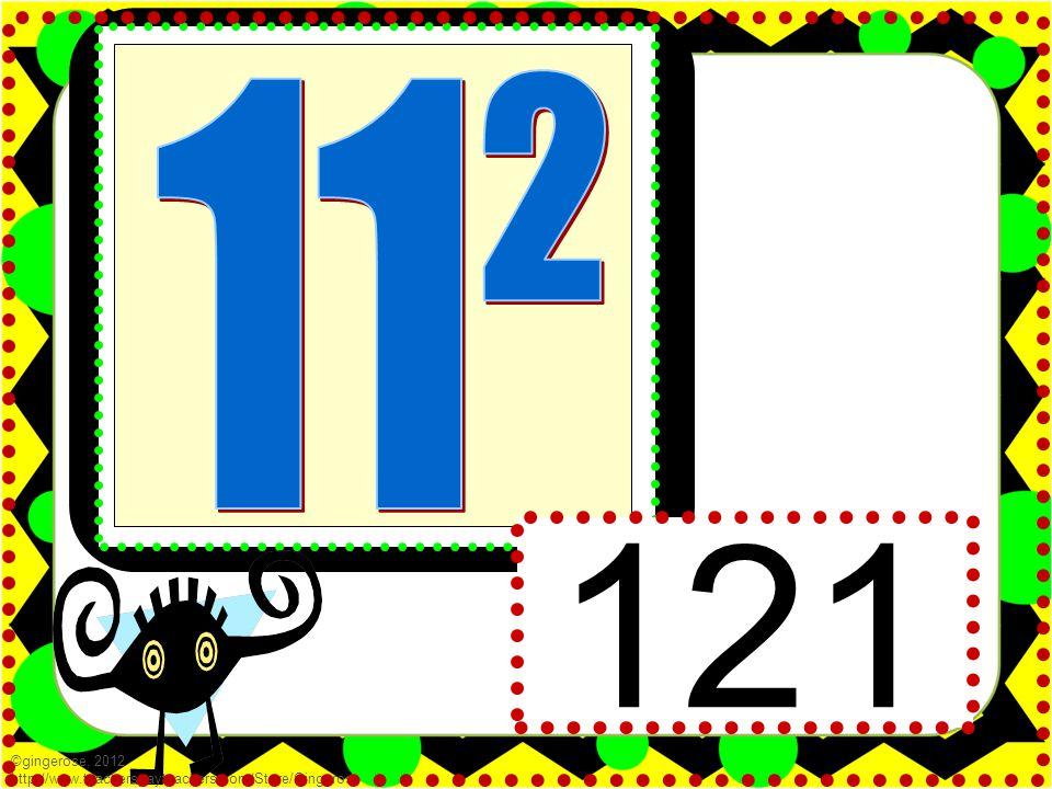 121 ©gingerose, 2012 http://www.teacherspayteachers.com/Store/Gingerose