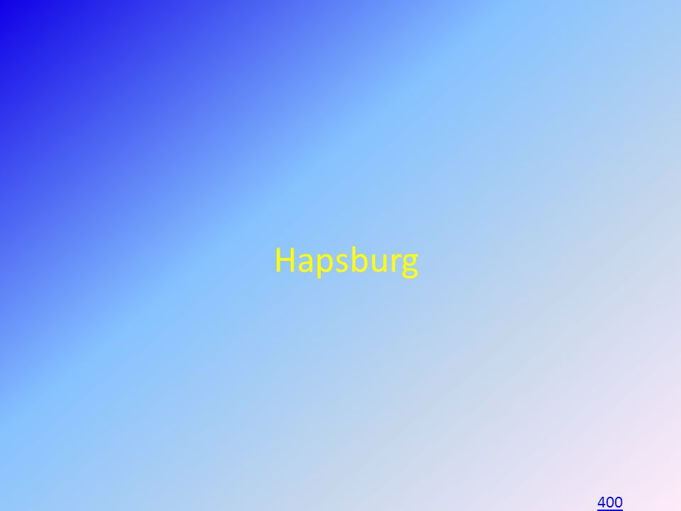 Hapsburg 400