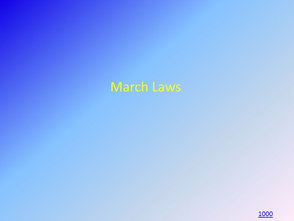March Laws 1000
