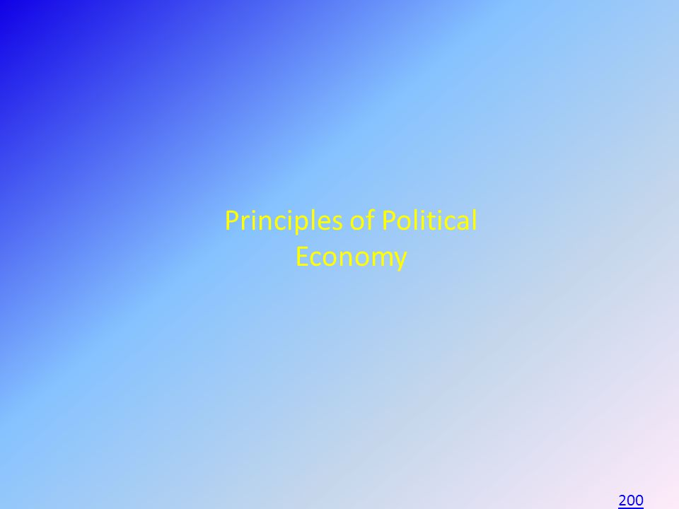 Principles of Political Economy 200
