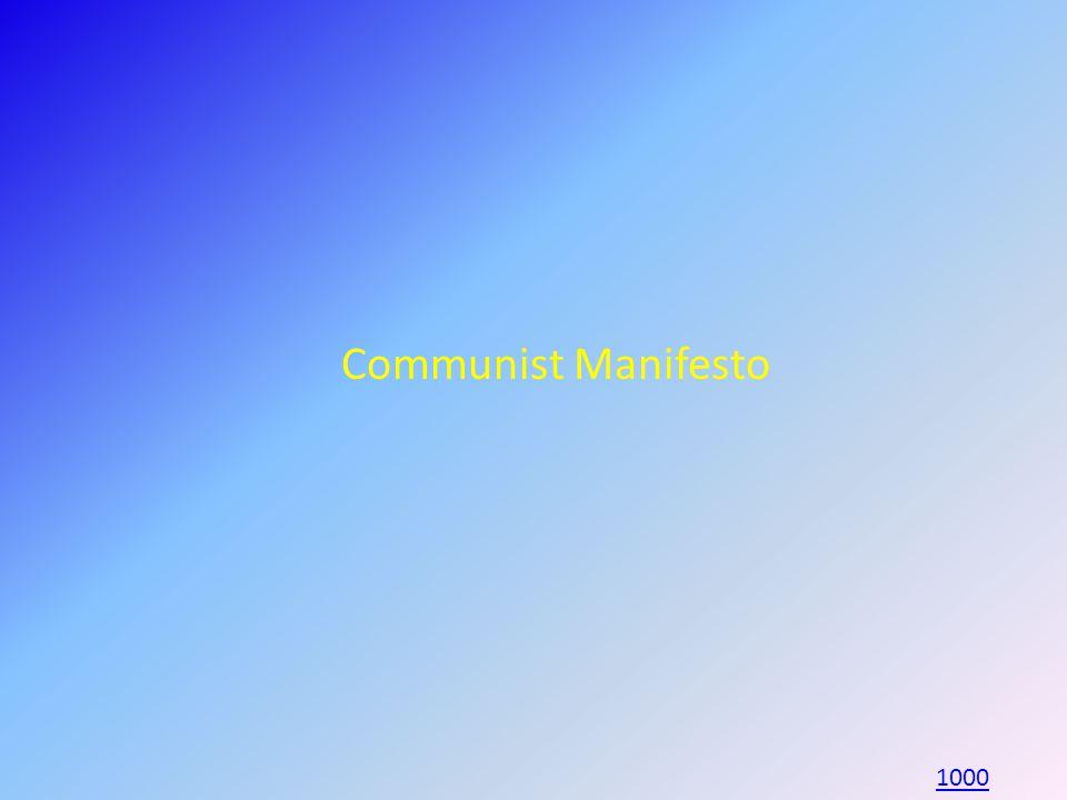 Communist Manifesto 1000