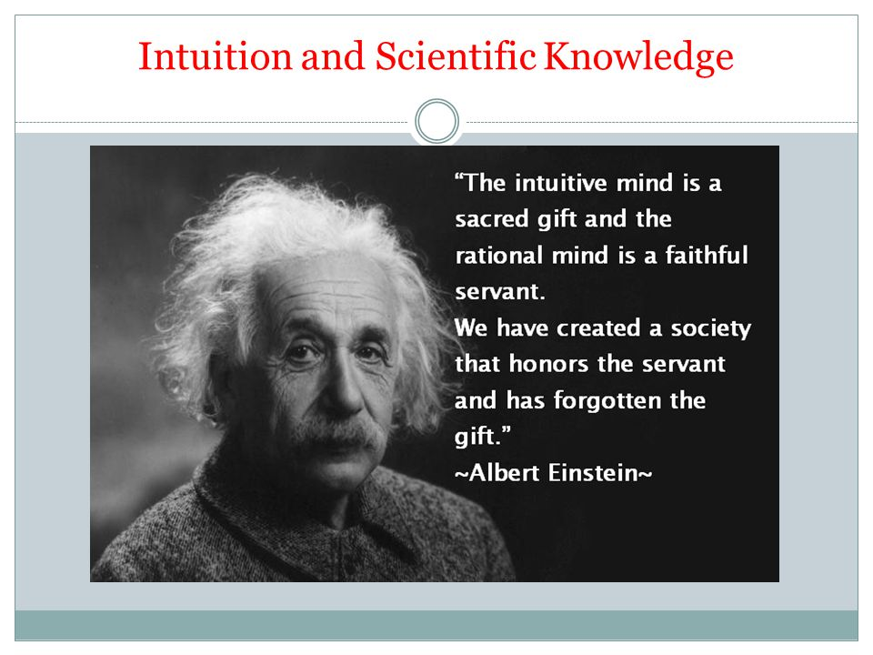 Intuition and Scientific Knowledge