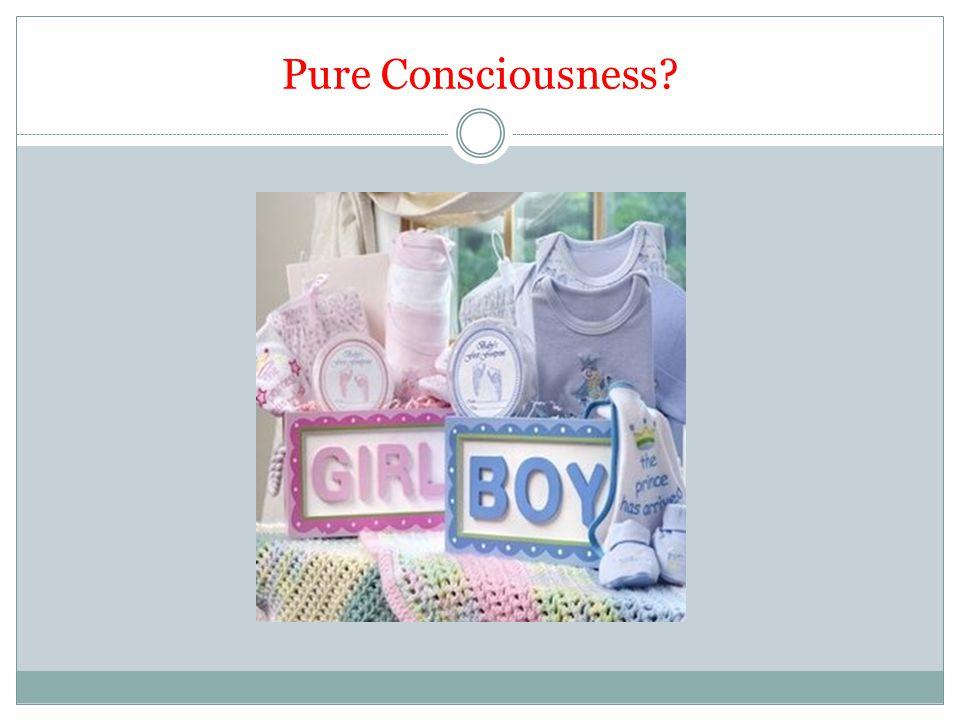 Pure Consciousness?