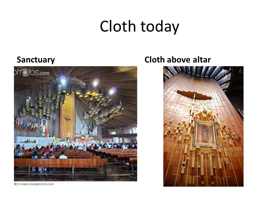 Cloth today SanctuaryCloth above altar