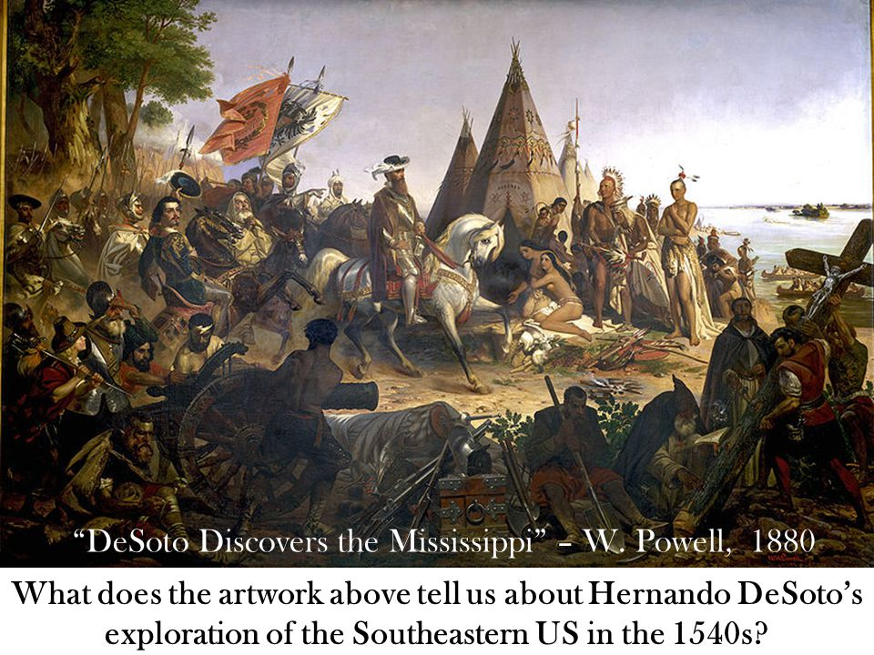 DeSoto Discovers the Mississippi – W.