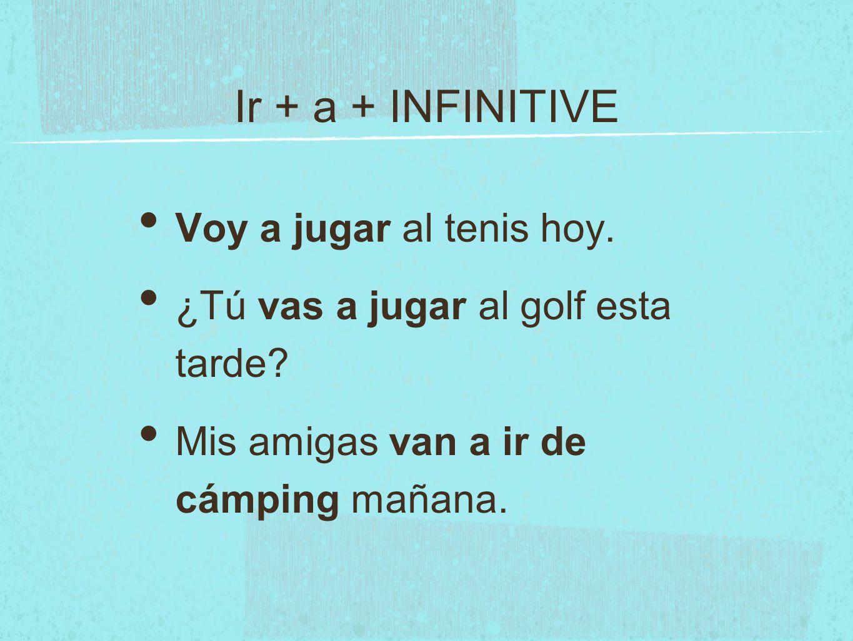 DA FUTURE For example, translate to español: 1. I will eat pizza.