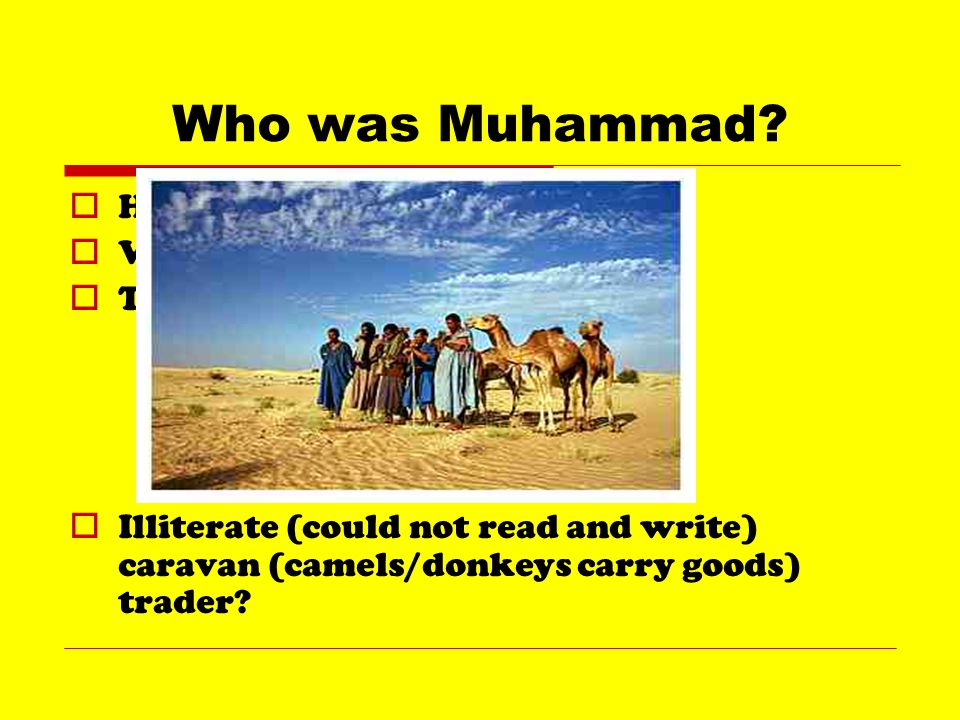 How did Muhammad become a prophet. Applied for the job.