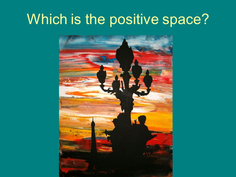 Which is the positive space?