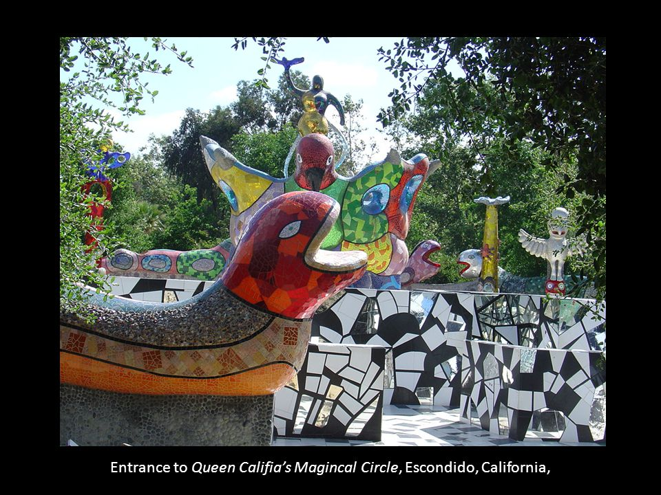 Entrance to Queen Califia's Magincal Circle, Escondido, California,