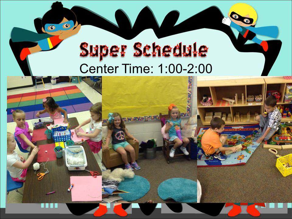 Center Time: 1:00-2:00