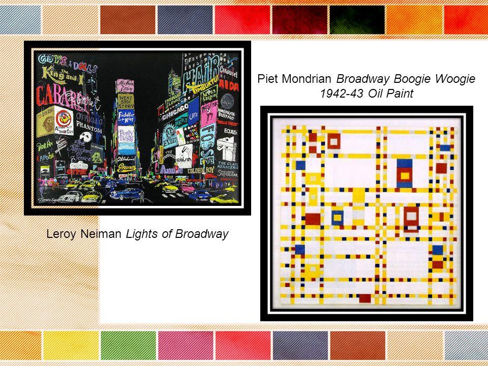 Leroy Neiman Lights of Broadway Piet Mondrian Broadway Boogie Woogie 1942-43 Oil Paint