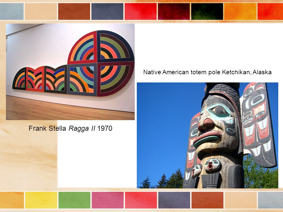 Native American totem pole Ketchikan, Alaska Frank Stella Ragga II 1970