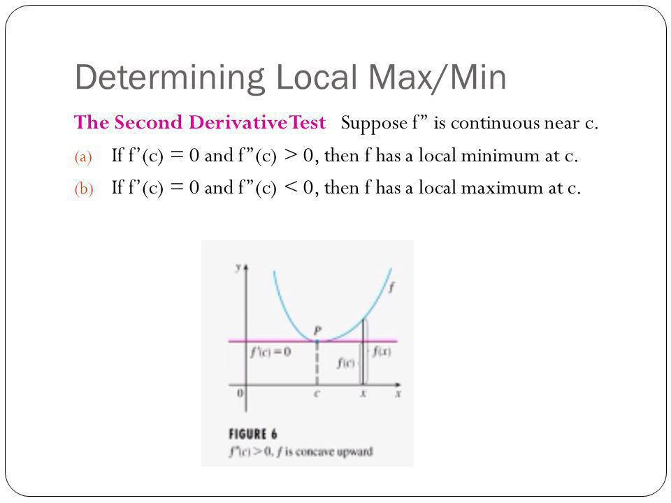 Example 1 Discuss y = x 4 – 4x 3 with respect to Concavity, Points of inflection, and Local maxima and minima.