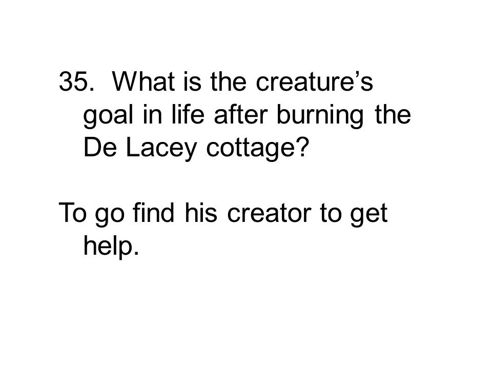 To go find his creator to get help.