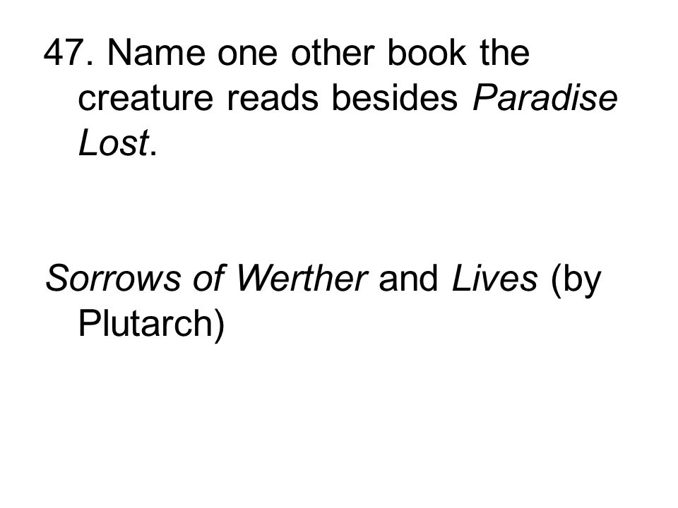 Sorrows of Werther and Lives (by Plutarch)
