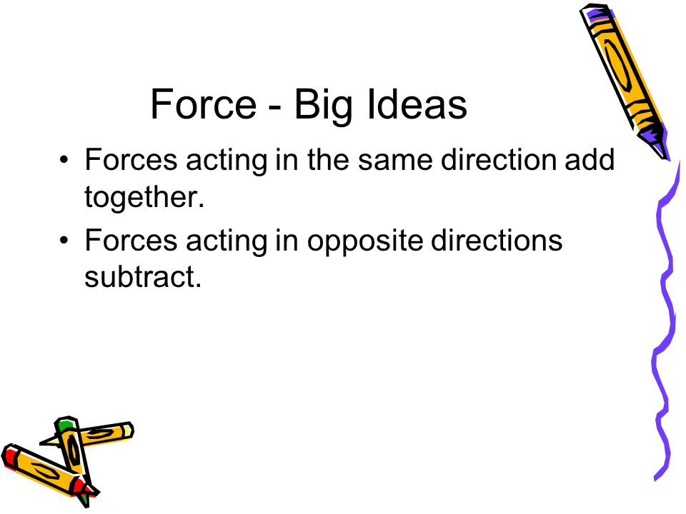 Net Force Example #1 Answer: The forces will cancel each other.