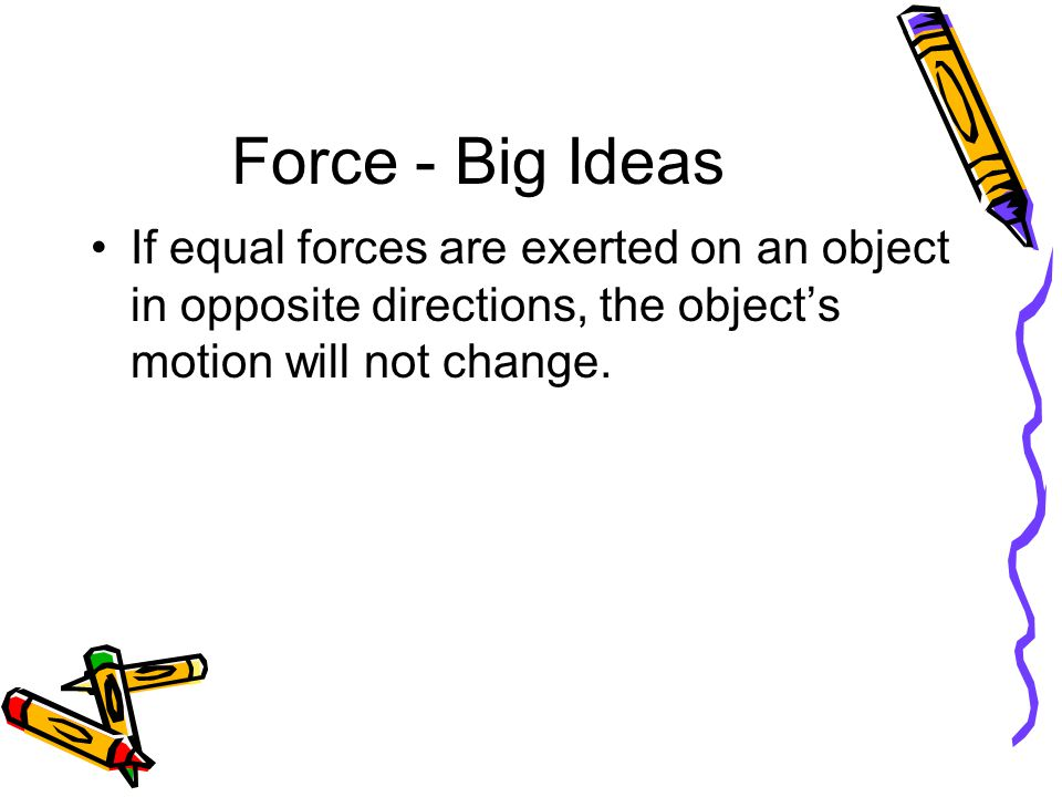 Force - Practice Question #1 What happens when one pusher is held stationary on one side of a Dotcar, and a force is exerted on the other side with a second pusher?