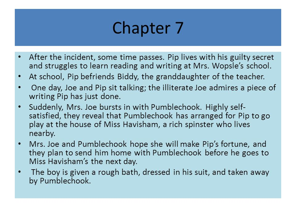 Chapter 7 After the incident, some time passes.