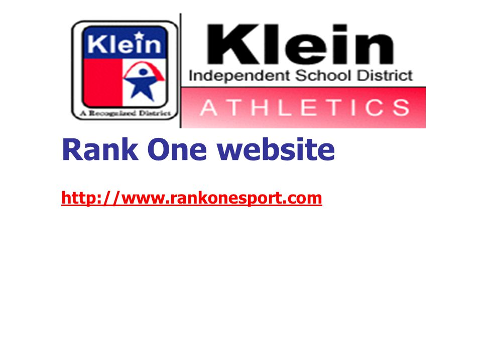 Rank One website http://www.rankonesport.com