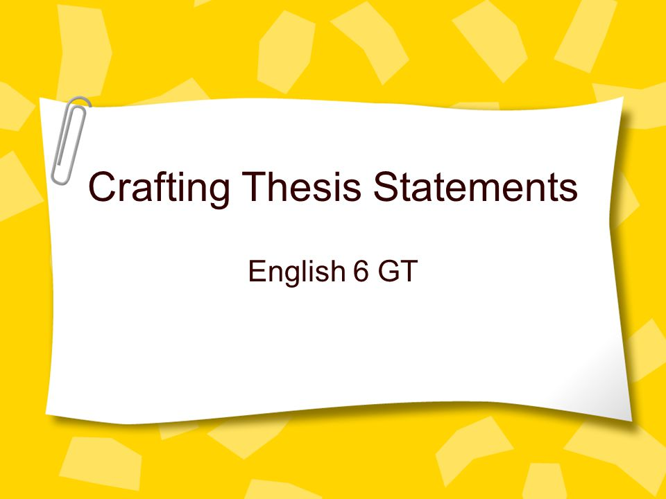 What Follows a Thesis Statement.