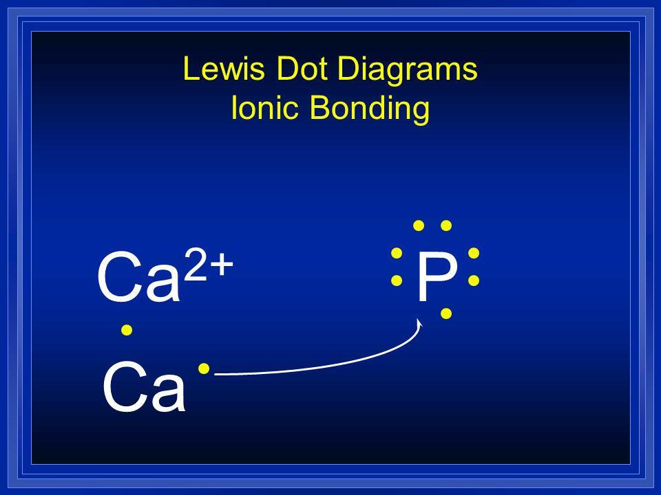 Lewis Dot Diagrams Ionic Bonding Ca 2+ P