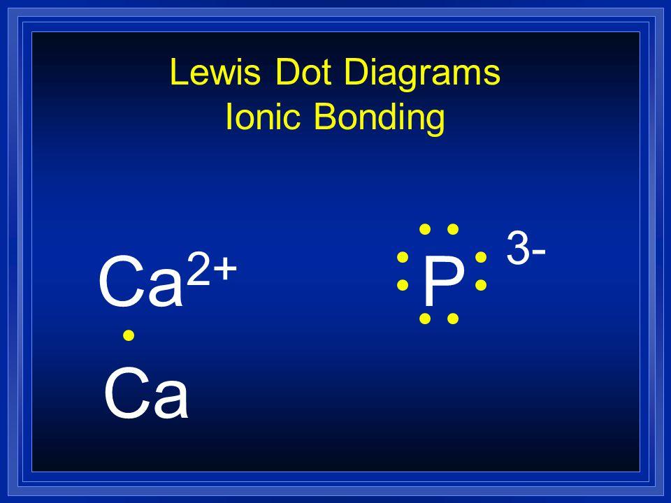 Lewis Dot Diagrams Ionic Bonding Ca 2+ P Ca