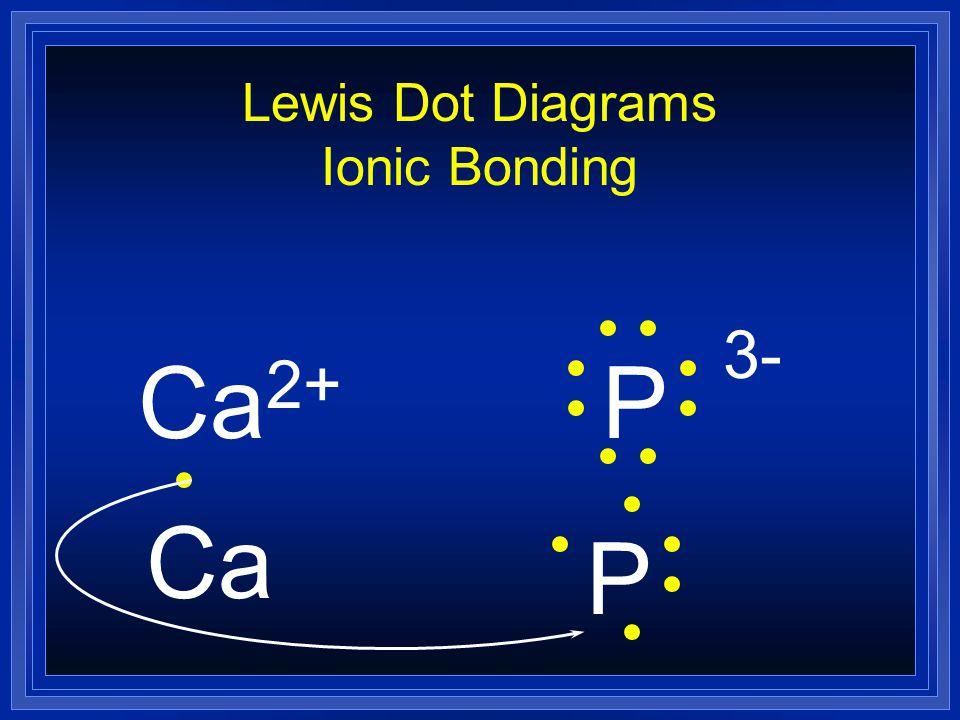 Lewis Dot Diagrams Ionic Bonding Ca 2+ P 3- Ca