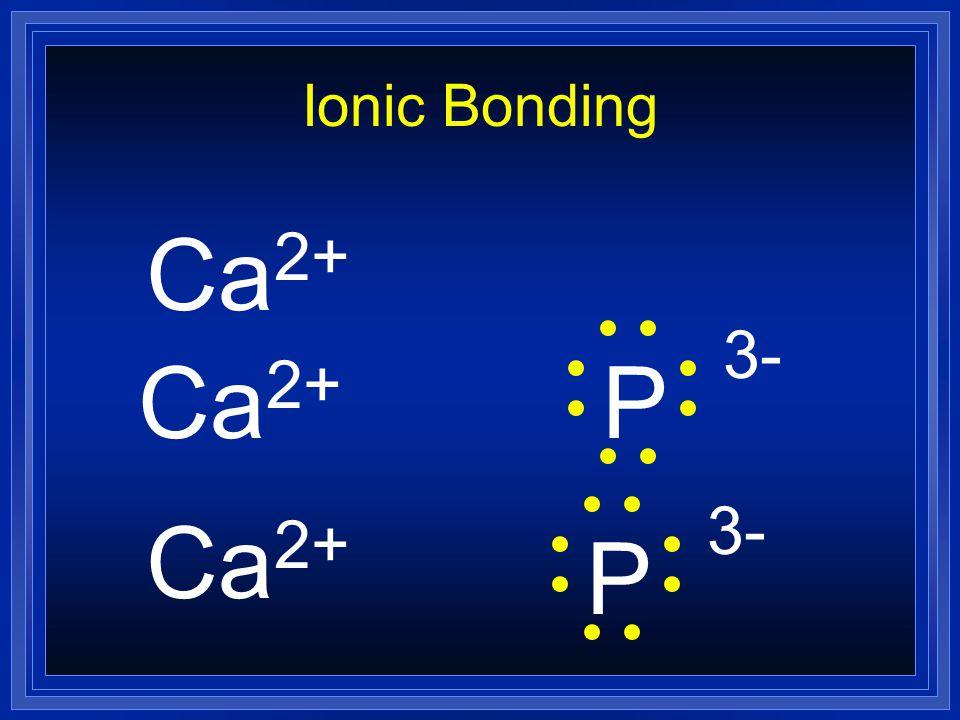 Lewis Dot Diagram Ionic Bonding Ca 2+ P 3- Ca 2+ P Ca