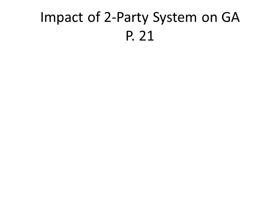 Impact of 2-Party System on GA P. 21