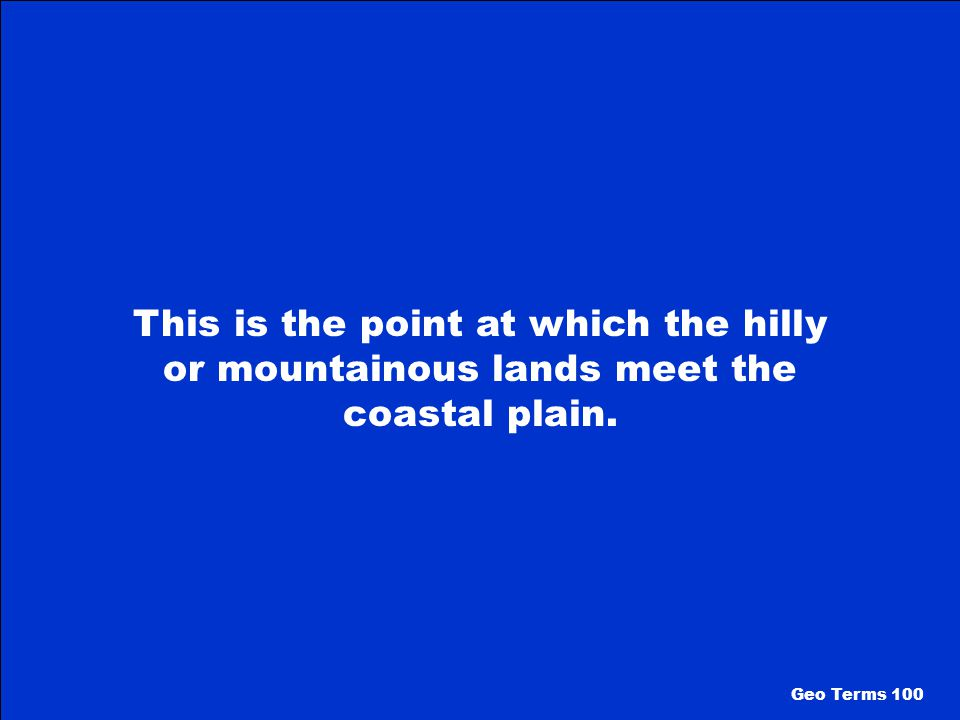 What is The Coastal Plain Geo Regions 500