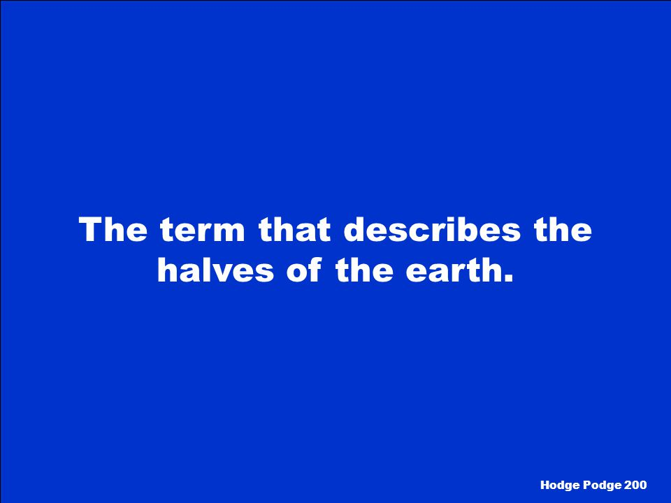 What is Topography Hodge Podge 100