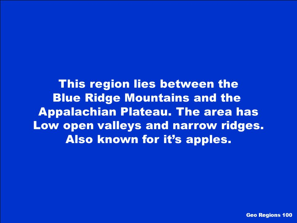 100 200 300 400 500 Geographic Regions of GA Geography Terms GA's 7 Wonders Hodge Podge Georgia's Climate Hodge Podge II