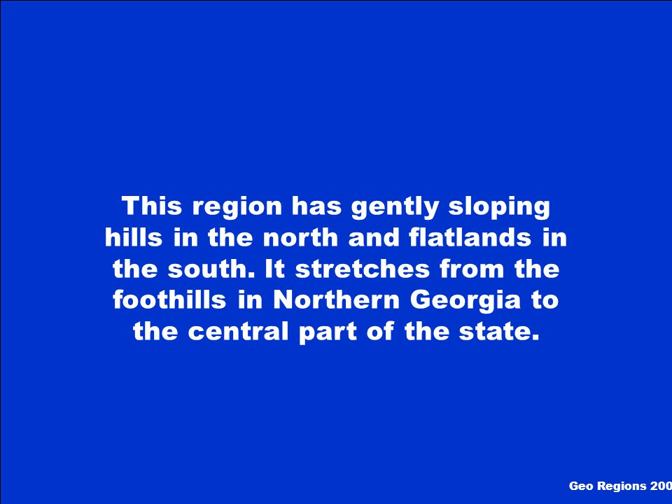 What is The Ridge and Valley Region Geo Regions 100