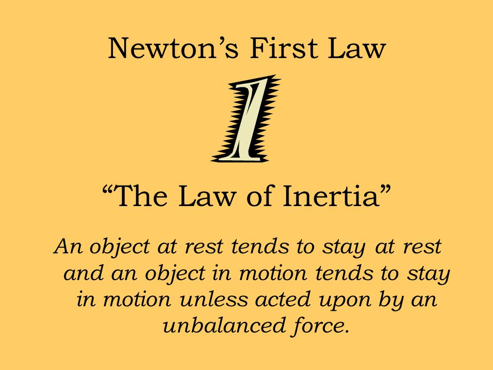 Newton's Second Law Force equals mass times acceleration.