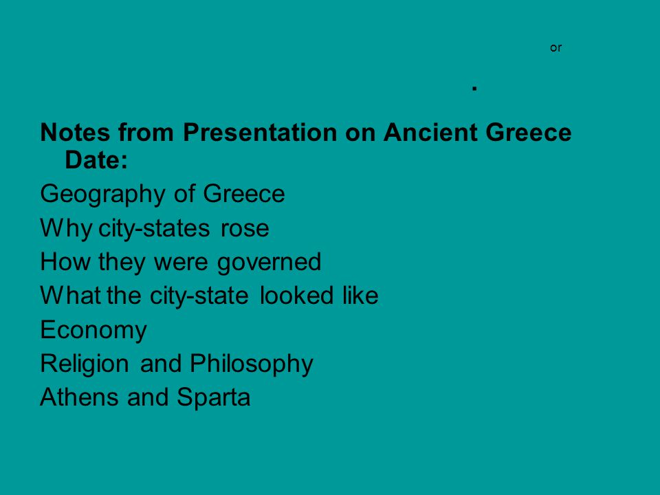 City States Mesopotamia & Greece provided security and order to residents But for Greece- it was a STRONG sense of identity What is the Greek polis and daily life.