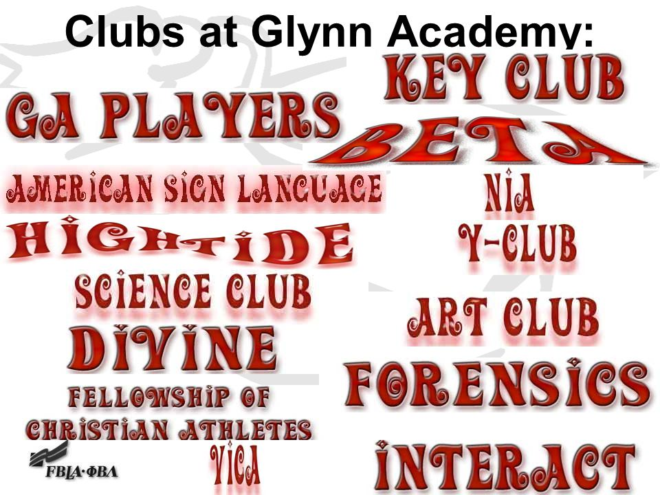 Clubs at Glynn Academy: